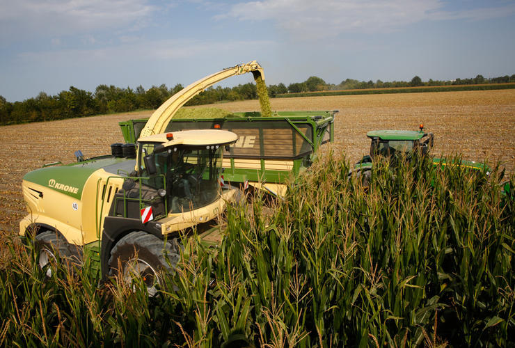 Krone BiG X mit Lift Cab