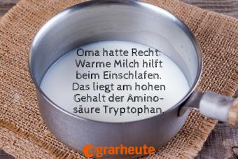 Milch in Topf