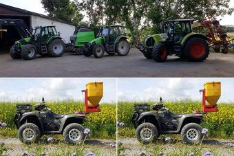 Claas Arion und Suzuki Kingquad