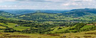 Agrarlandschaft in Wales