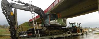 Unfall mit Bagger