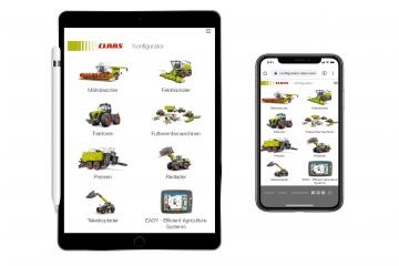 Claas Konfigurator mobile Endgeräte
