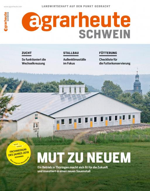 agrarheute SCHWEIN Cover August 2018