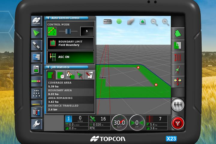 Topcon Agriculture Touchscreen-Konsole X23