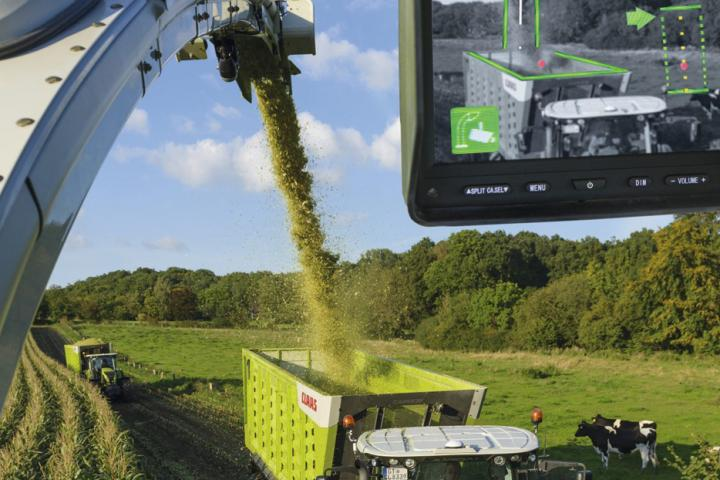 Claas Auto Fill System beim Claas Jaguar