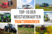 Traktor-Marken als Collage.